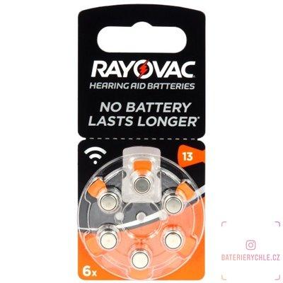Baterie do naslouchadel RAYOVAC 13 acoustic special, 6ks blistr (PR48)