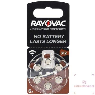 Baterie do naslouchadel RAYOVAC 312 acoustic special, 6ks blistr (PR41)