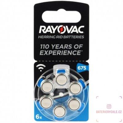 Baterie do naslouchadel RAYOVAC 675 acoustic special, 6ks blistr (PR44)