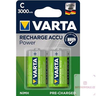 Nabíjecí baterie Varta C 3000mAh 2ks, blistr