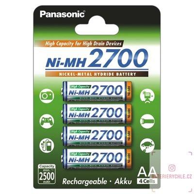Baterie Panasonic AA 2700mAh (BK-3HGAE) 4ks blistr