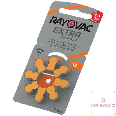 Baterie do naslouchadel RAYOVAC 13 extra advanced, 8ks blistr (PR48) - PROMO