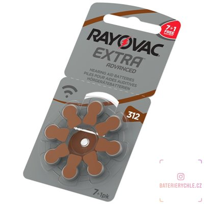 Baterie do naslouchadel RAYOVAC 312 extra advanced, 8ks blistr (PR41) - PROMO