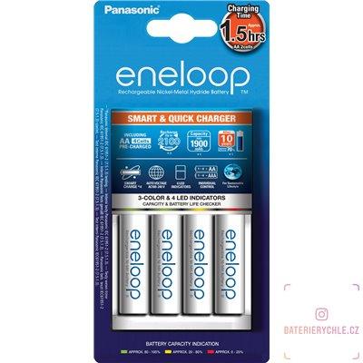 Inteligentní nabíječka baterií Panasonic BQ-CC55, včetně baterií Eneloop 2000mAh 4ks