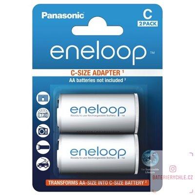 Adapter pro baterie AA na C Panasonic Eneloop ADAPT 2BP C BQ-BS2E/2E