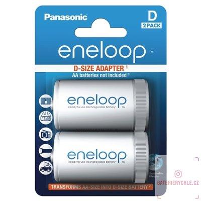 Adapter pro baterie AA na D Panasonic Eneloop ADAPT 2BP D BQ-BS1E/2E