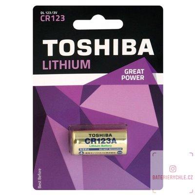 Baterie Toshiba Lithium CR123 1ks, blistr