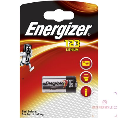 Baterie Energizer Lithium CR123 1ks, blistr