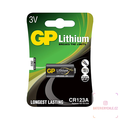 Baterie GP Batteries Lithium CR123 1ks, blistr