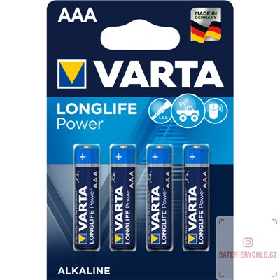 Baterie Varta LongLife Power AAA 4ks, blistr
