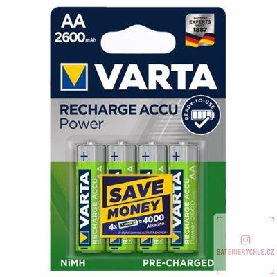 Nabíjecí baterie Varta PRO AA 2600mAh 4ks, blistr