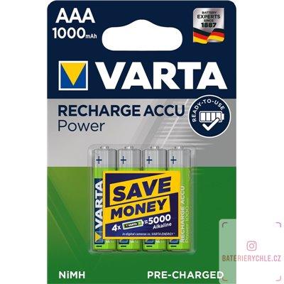 Nabíjecí baterie Varta PRO AAA 1000mAh 4ks, blistr