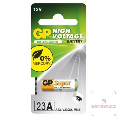Baterie GP Batteries CR23A, MN21 1ks, blistr