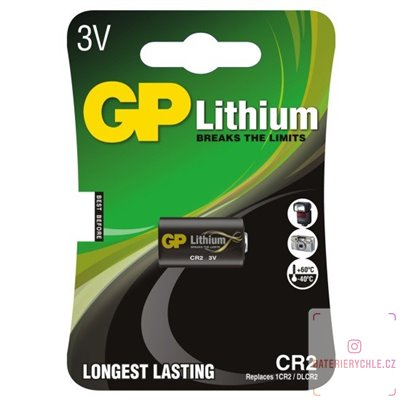 Baterie GP Batteries Lithium photo CR2 1ks, blistr