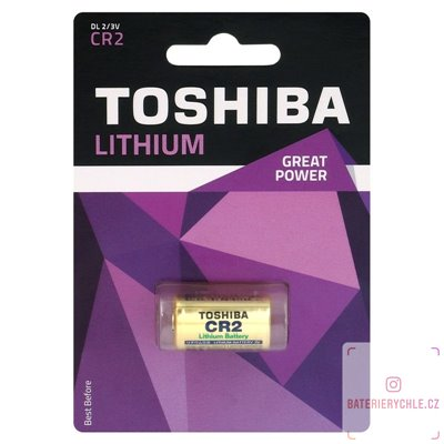 Baterie Toshiba Lithium photo CR2 1ks, blistr