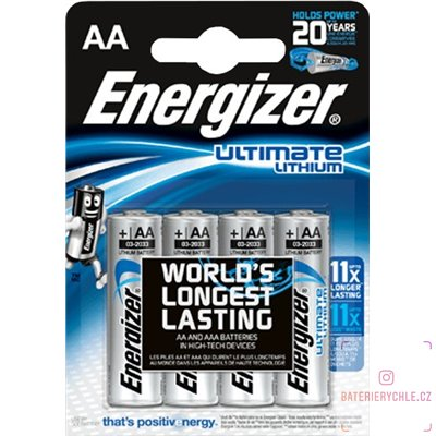 Baterie Energizer Ultimate AA 4ks, blistr