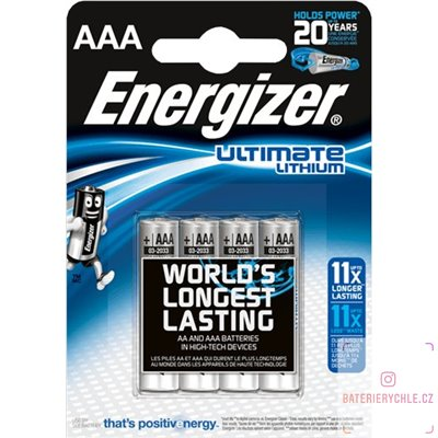 Baterie Energizer Ultimate AAA 4ks, blistr
