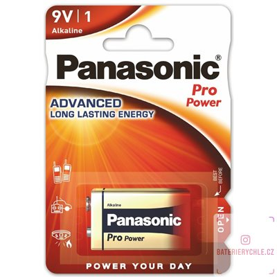 Baterie Panasonic Pro Power 6LR61 9V 1ks, blistr