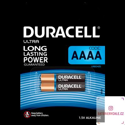 Baterie Duracell Ultra 25A, AAAA, LR61, 1.5V, 2ks, blistr