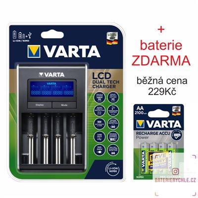 Inteligentní nabíječka baterií VARTA LCD DUAL TECH CHARGER 57676 Ni-MH a Li-Ion s USB výstupem