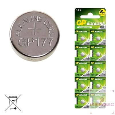 Knoflíková baterie GP Batteries LR626, 1.5V, 12mAh, alkalická