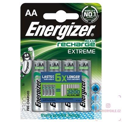 Nabíjecí baterie Energizer Extreme AA 2300mAh 4ks, blistr