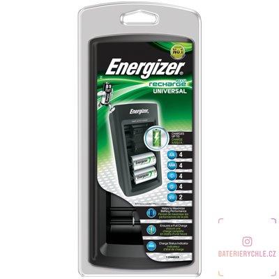 Inteligentní nabíječka baterií Energizer Universal pro 4ks Ni-MH AAA, AA, C, D, 9V