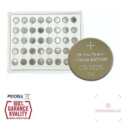 CR1225 Knoflíková baterie PKCell, 3V, 50mAh, lithiová