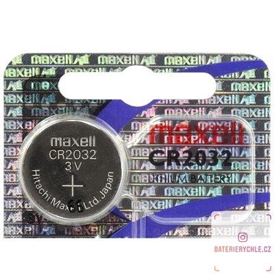 CR2032 Knoflíková baterie Maxell 3V, 220mAh, lithiová, 1ks, blistr