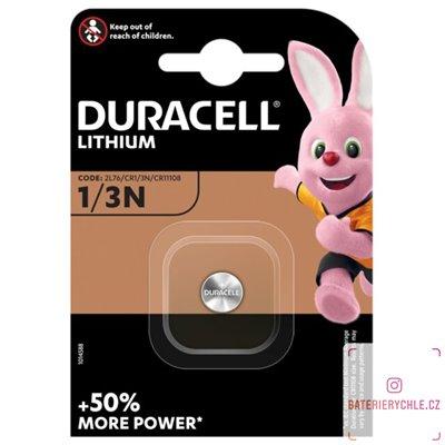 CR1/3N Knoflíková baterie Duracell 3V, 160mAh, lithiová, 1ks, blistr