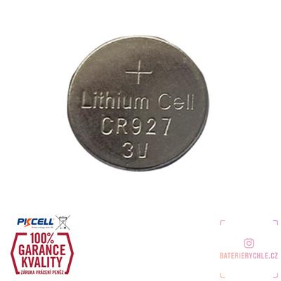 CR927 Knoflíková baterie PKCell, 3V, 30mAh, lithiová