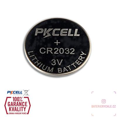 CR2032 Knoflíková baterie PKCell, 3V, 220mAh, lithiová