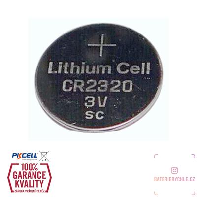 CR2320 Knoflíková baterie PKCell, 3V, 130mAh, lithiová