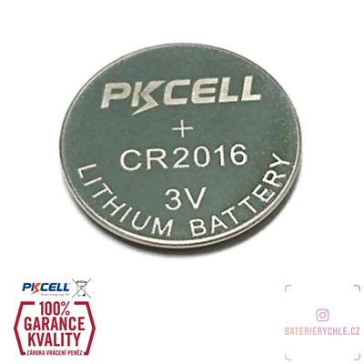 CR2016 Knoflíková baterie PKCell, 3V, 75mAh, lithiová