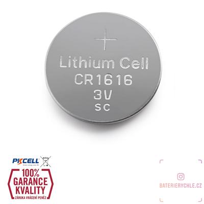 CR1616 Knoflíková baterie PKCell, 3V, 50mAh, lithiová