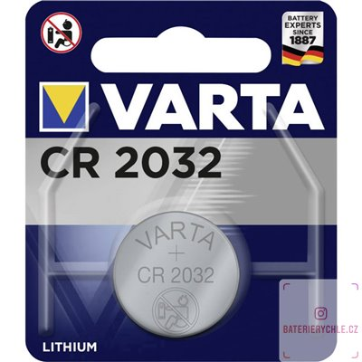 CR2032 Knoflíková baterie Varta 3V, 220mAh, lithiová, 1ks, blistr