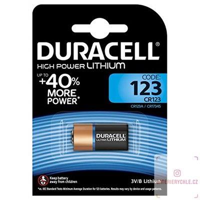 Baterie Duracell Lithium CR123 1ks, blistr