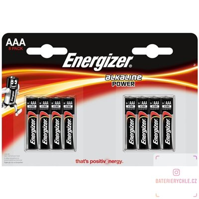 Baterie Energizer Alkaline Power AAA 8ks, blistr