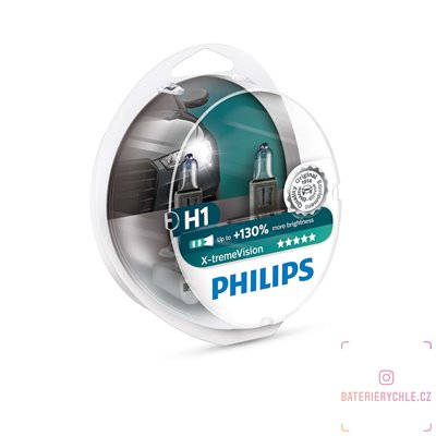Autožárovka Philips X-treme Vision 12258XVS2 H1 P14,5s 12V 55W, 2ks