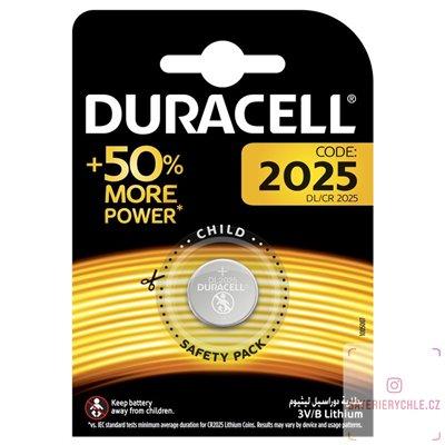 CR2025 Knoflíková baterie Duracell 3V, 185mAh, lithiová, 1ks, blistr