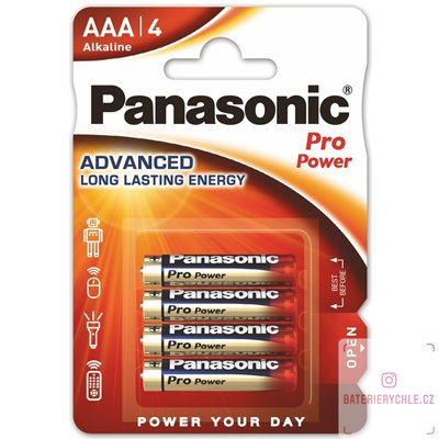 Baterie Panasonic Pro Power AAA 4ks, blistr