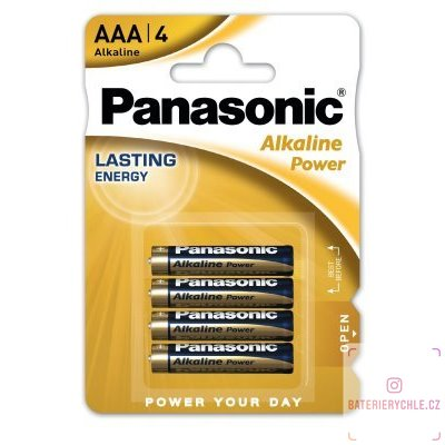 Baterie Panasonic Alkaline Power AAA 4ks, blistr
