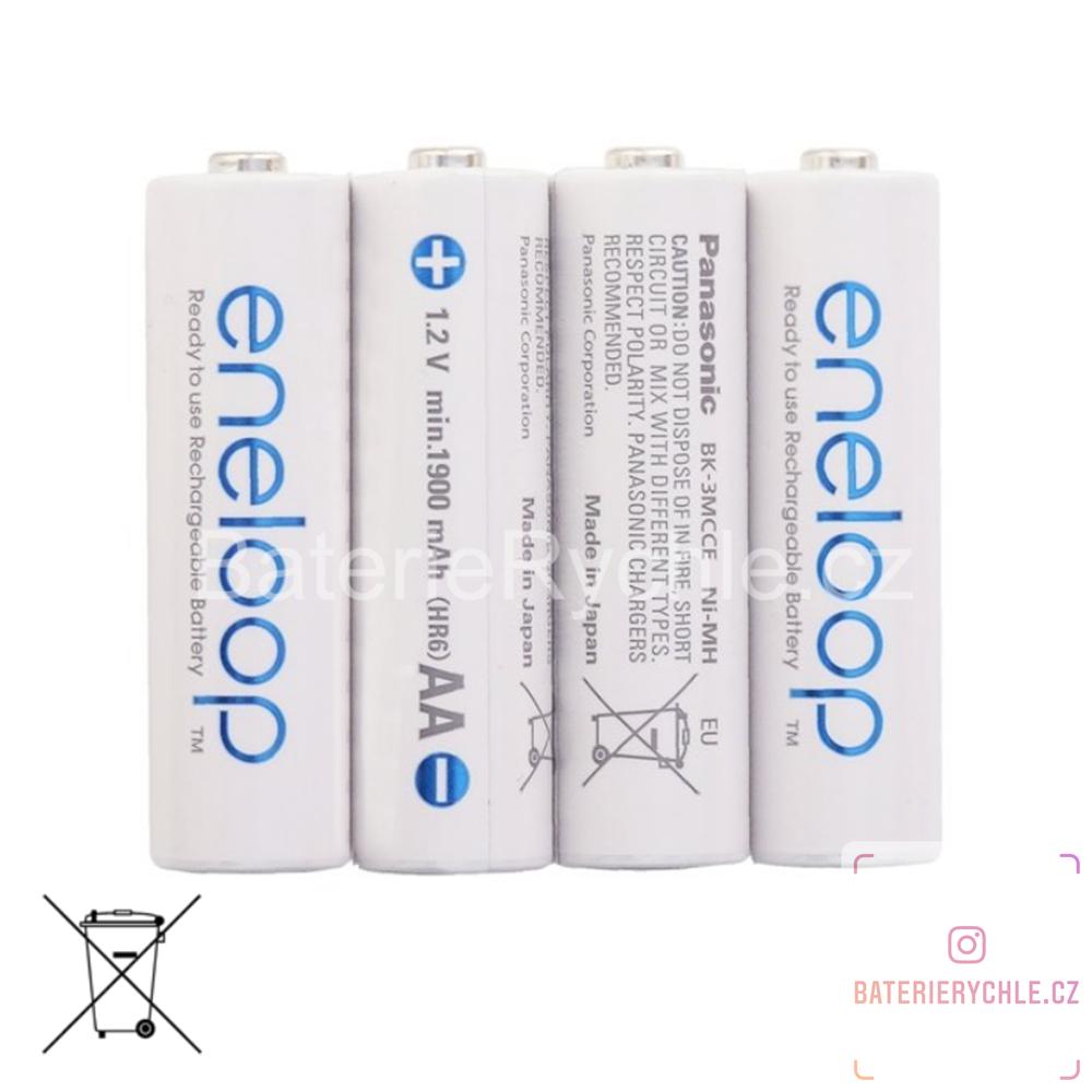 Baterie Panasonic Eneloop AA 4ks 3MCCE, 2000mAh