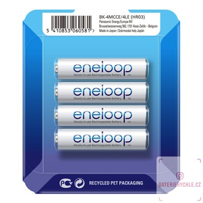 Baterie Panasonic Eneloop AAA 4ks (BK-4MCCE/4LE) 800mAh, blistr
