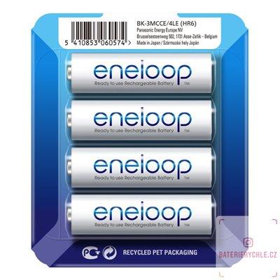 Baterie Panasonic Eneloop AA 4ks (BK-3MCCE), 2000mAh, blistr
