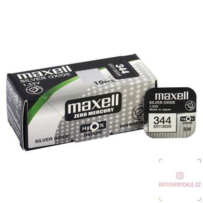 Hodinková baterie MAXELL 344 (SR1136SW / SR42SW) 1ks, blistr