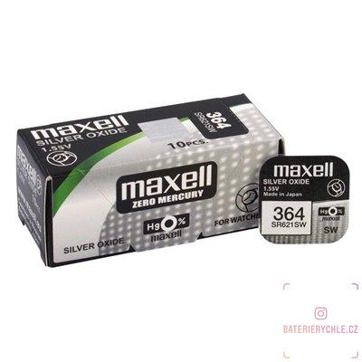 Hodinková baterie MAXELL 364 ,G1 (SR621SW) 1ks, blistr