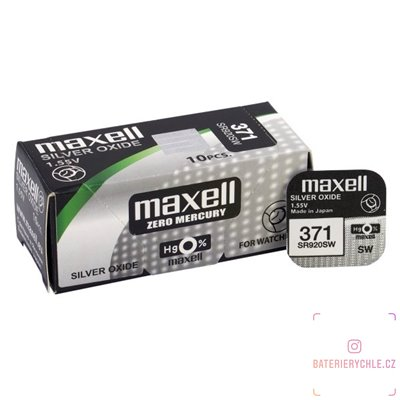 Hodinková baterie MAXELL 371, 370, G6 (SR920SW) 1ks, blistr