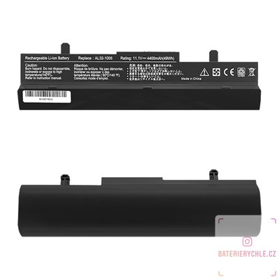 Baterie pro notebook Asus EEE PC 1005, 4400mAh, 10.8-11.1V