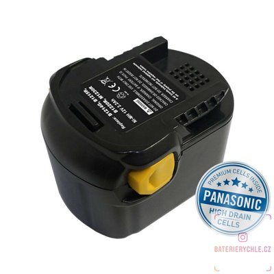 Baterie pro aku nářadí AEG B1220 R Ni-MH 12V 3000mAh 1ks (Avacom, články Panasonic)